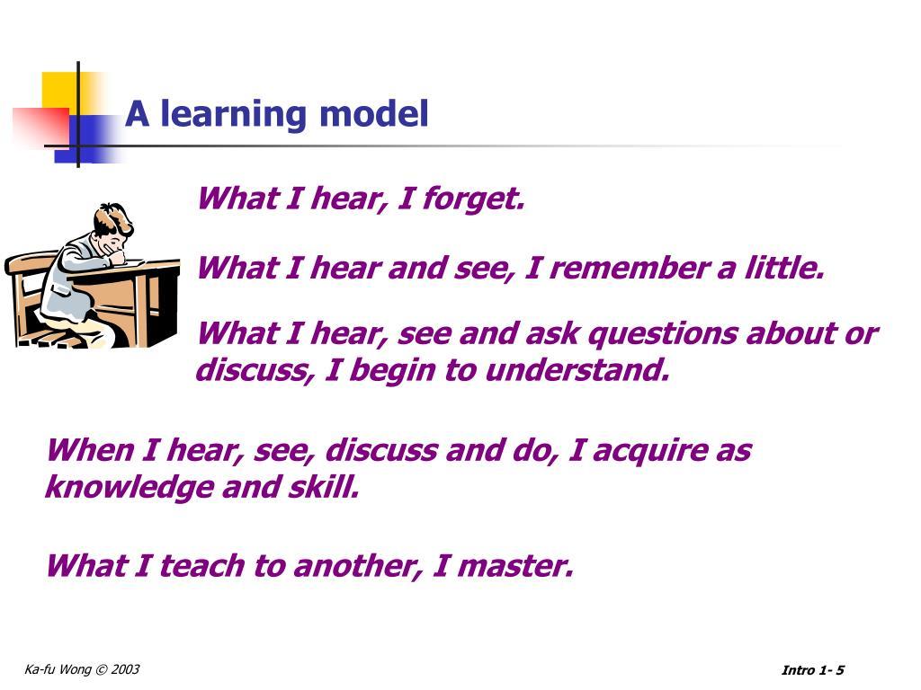A learning model