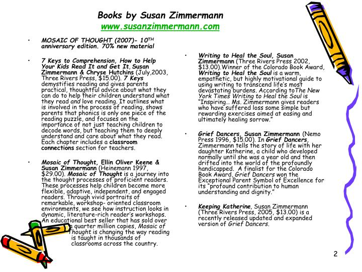 Books by susan zimmermann www susanzimmermann com