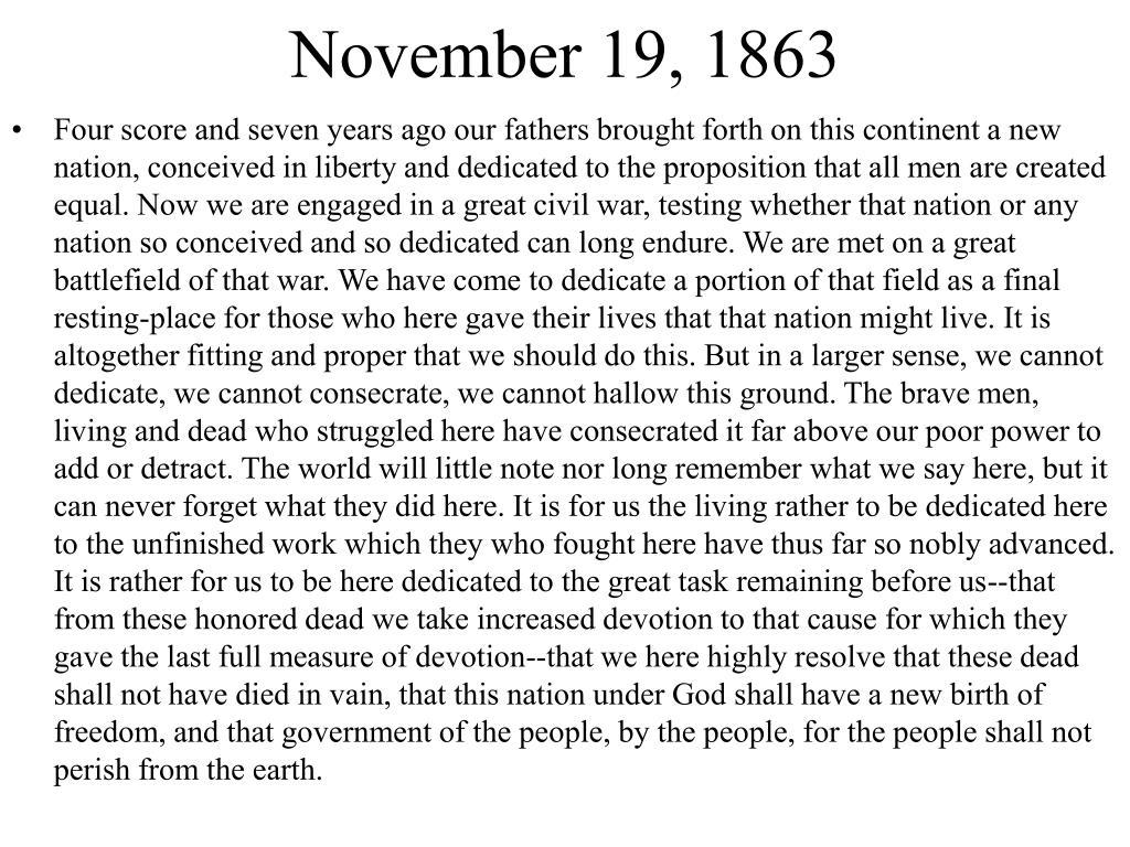 November 19, 1863