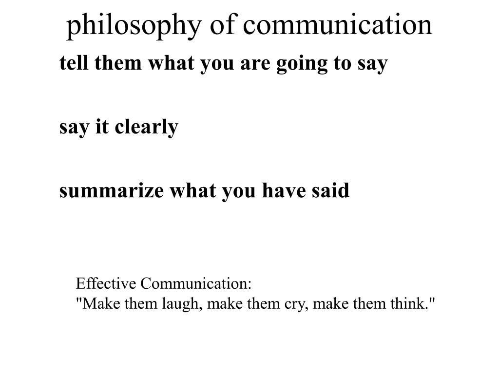philosophy of communication
