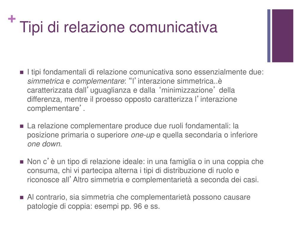 Tipi di relazione comunicativa