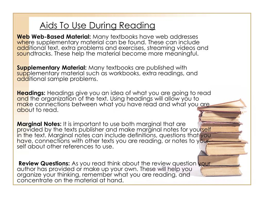 Aids To Use During Reading