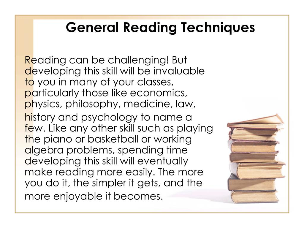 General Reading Techniques