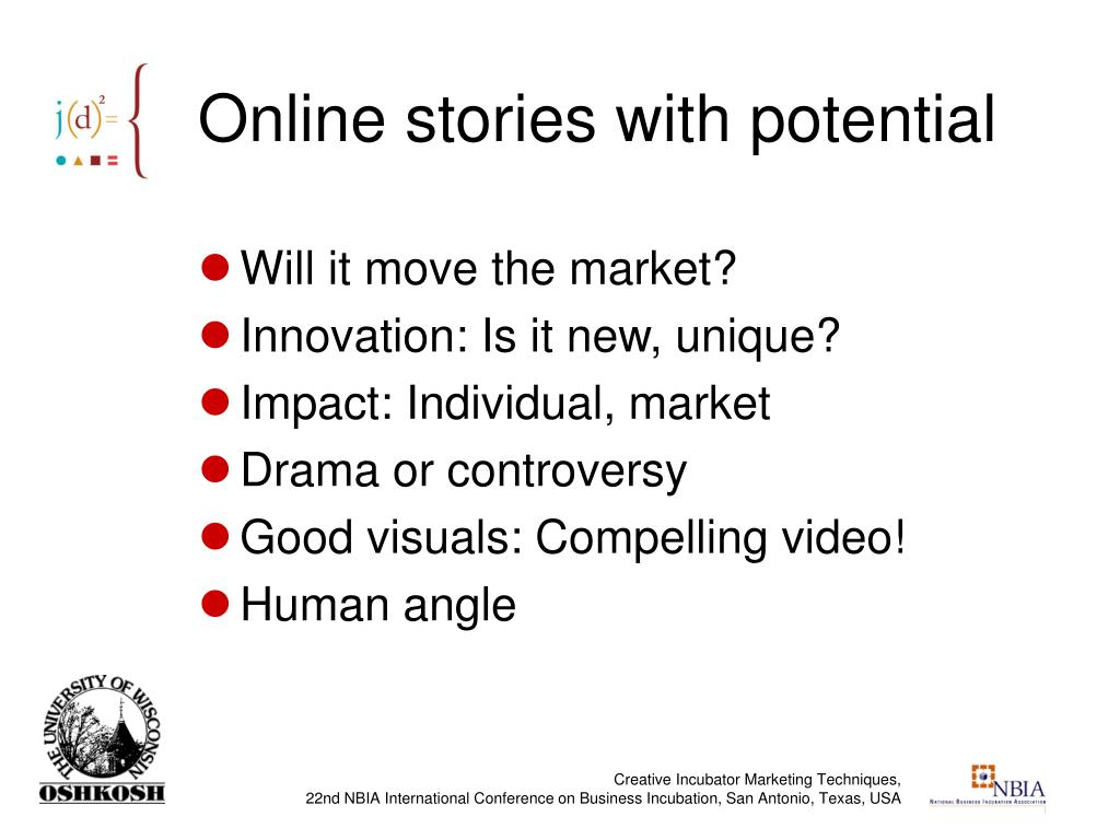 Online stories with potential