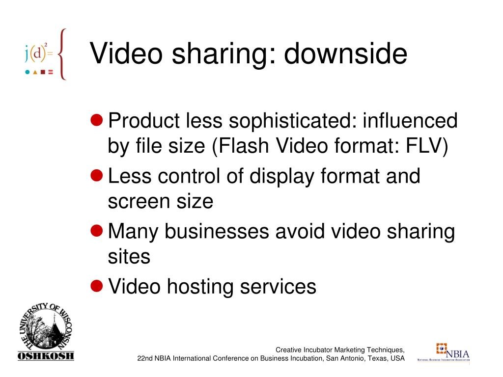 Video sharing: downside