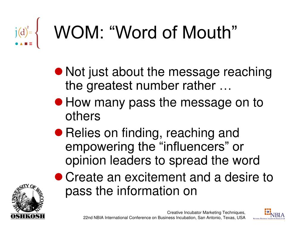 "WOM: ""Word of Mouth"""