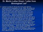 dr martin luther king s letter from birmingham jail