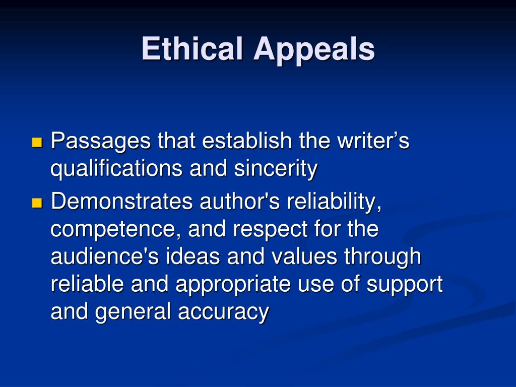 Ethical Appeals