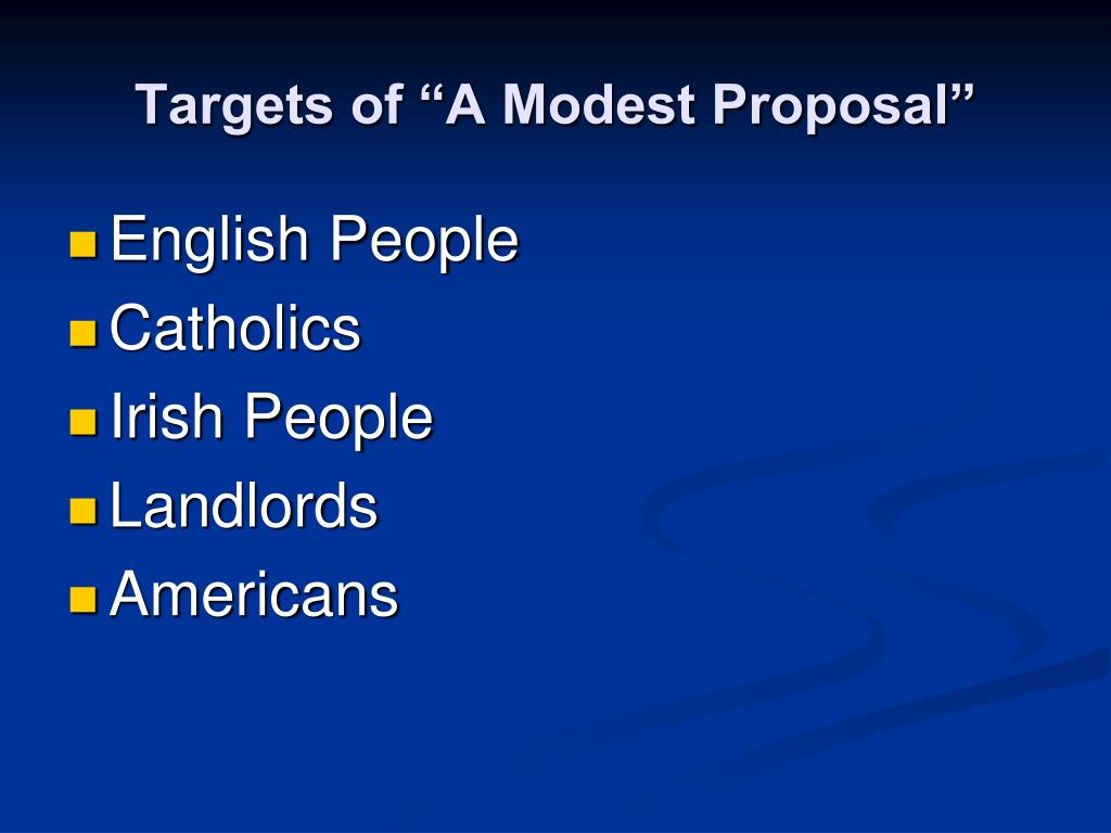"Targets of ""A Modest Proposal"""
