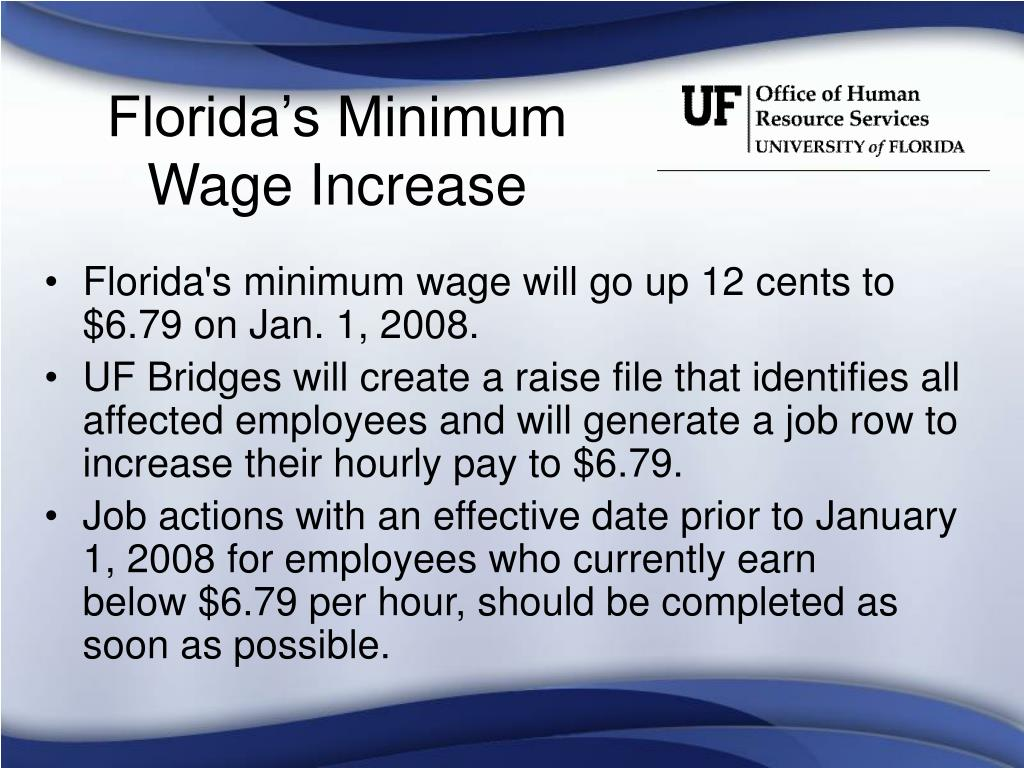 Florida's Minimum Wage Increase