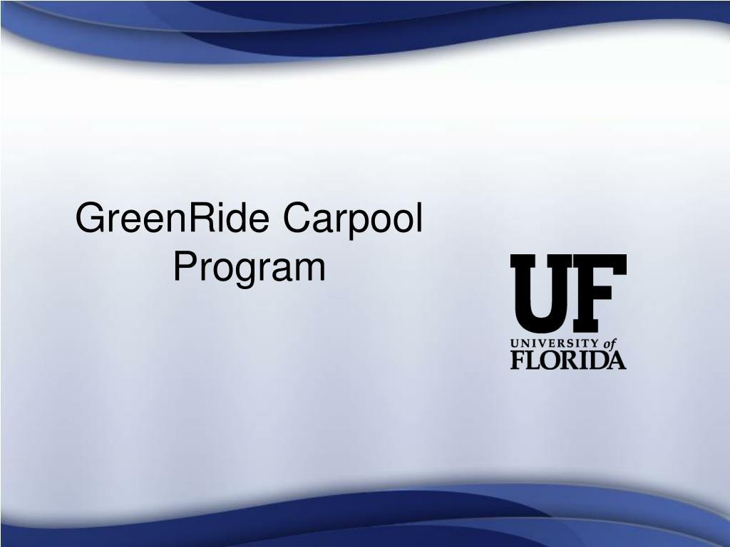 GreenRide Carpool Program