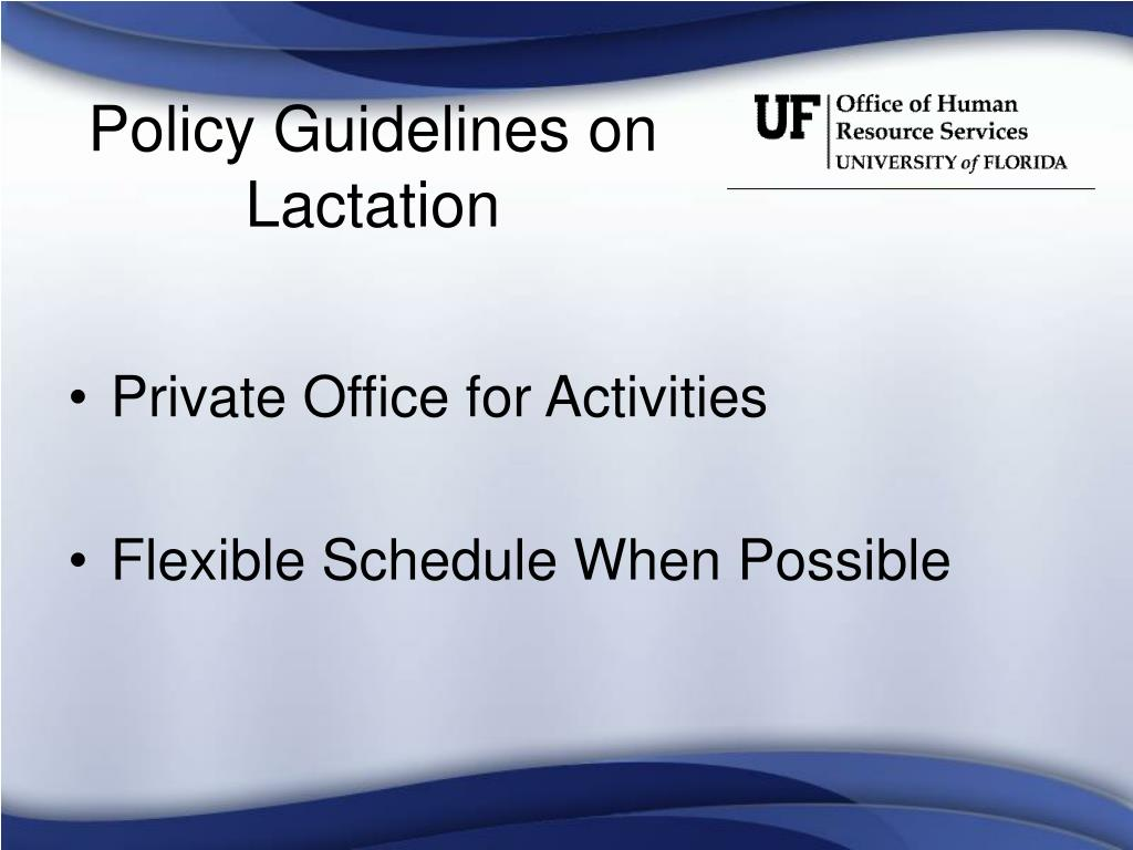 Policy Guidelines on Lactation