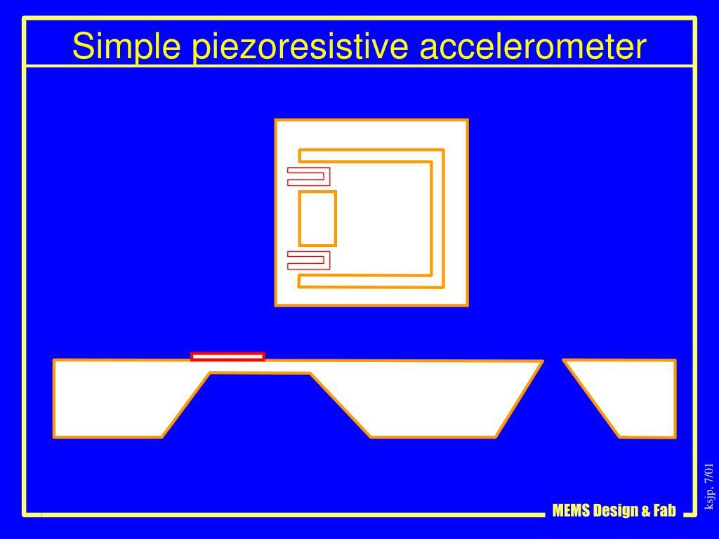 Simple piezoresistive accelerometer