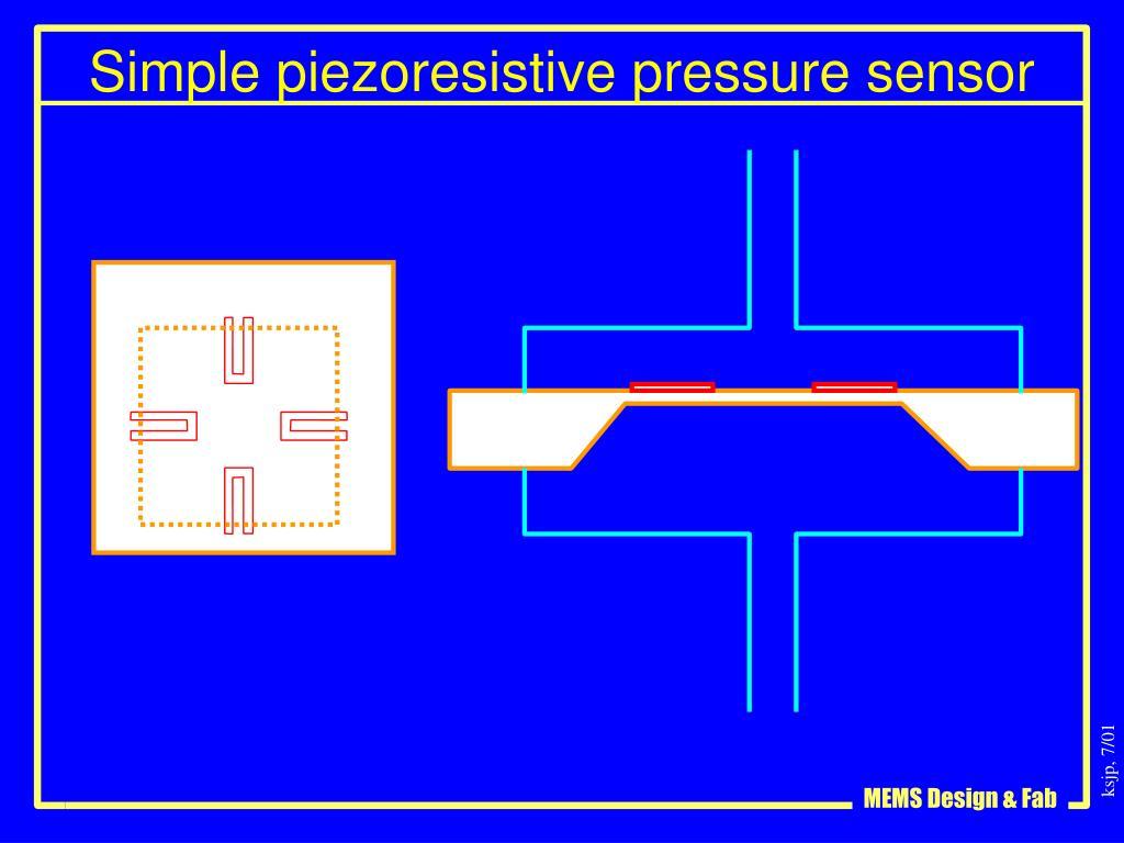 Simple piezoresistive pressure sensor
