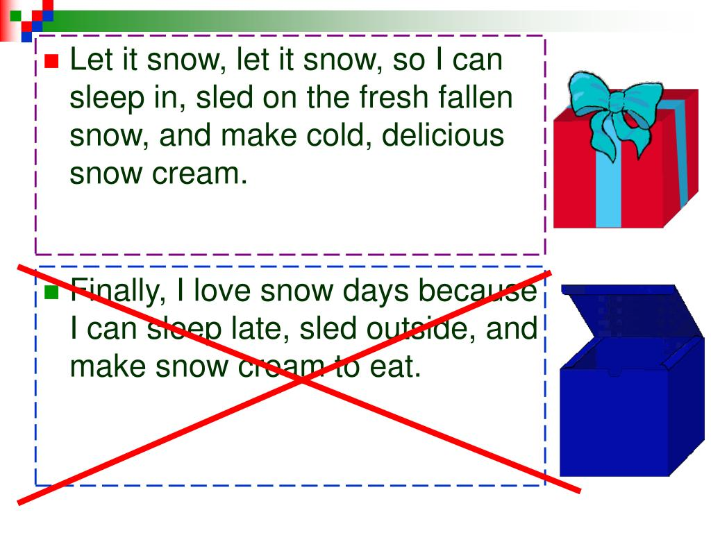 Let it snow, let it snow, so I can sleep in, sled on the fresh fallen snow, and make cold, delicious snow cream.
