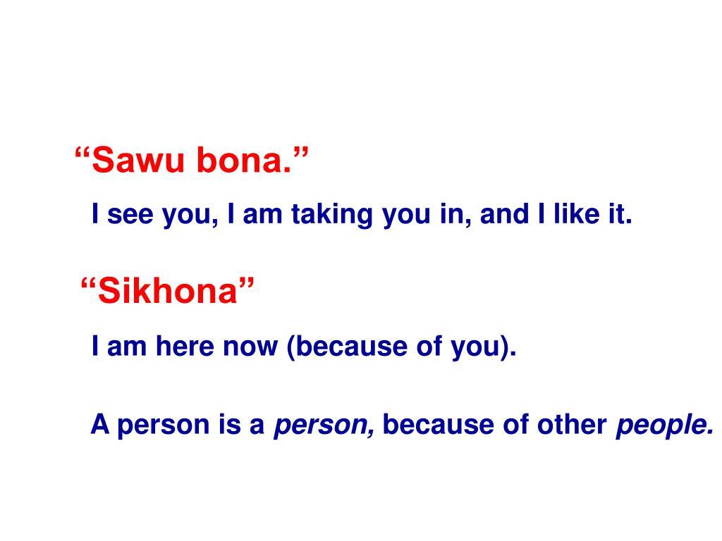 """Sawu bona."""