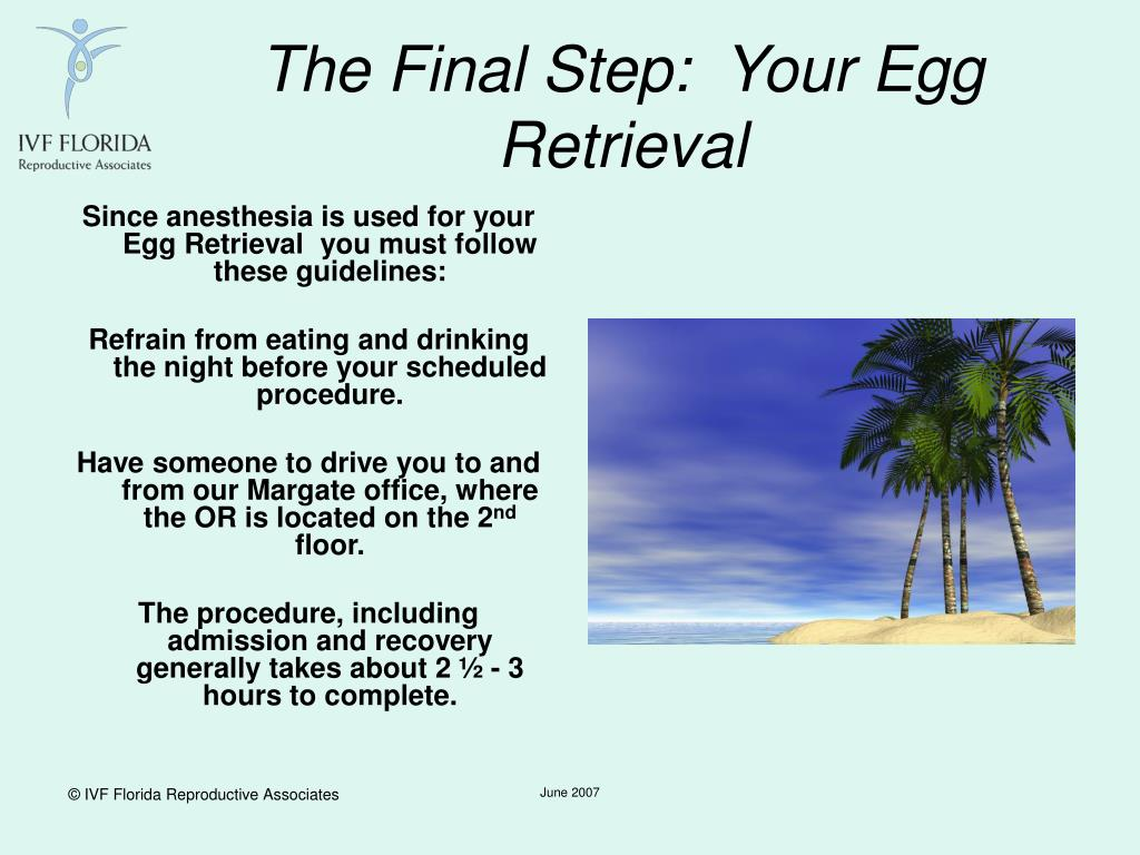 The Final Step:  Your Egg Retrieval