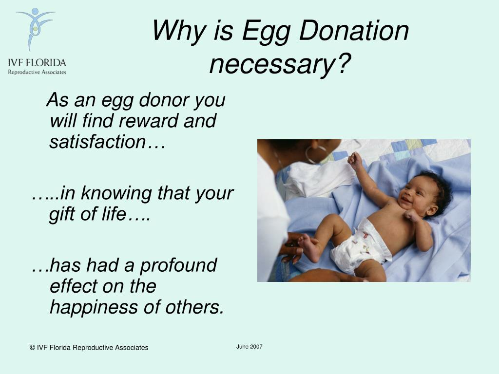 Why is Egg Donation necessary?