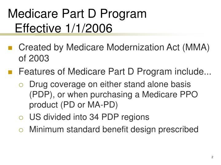 Medicare Part D Program