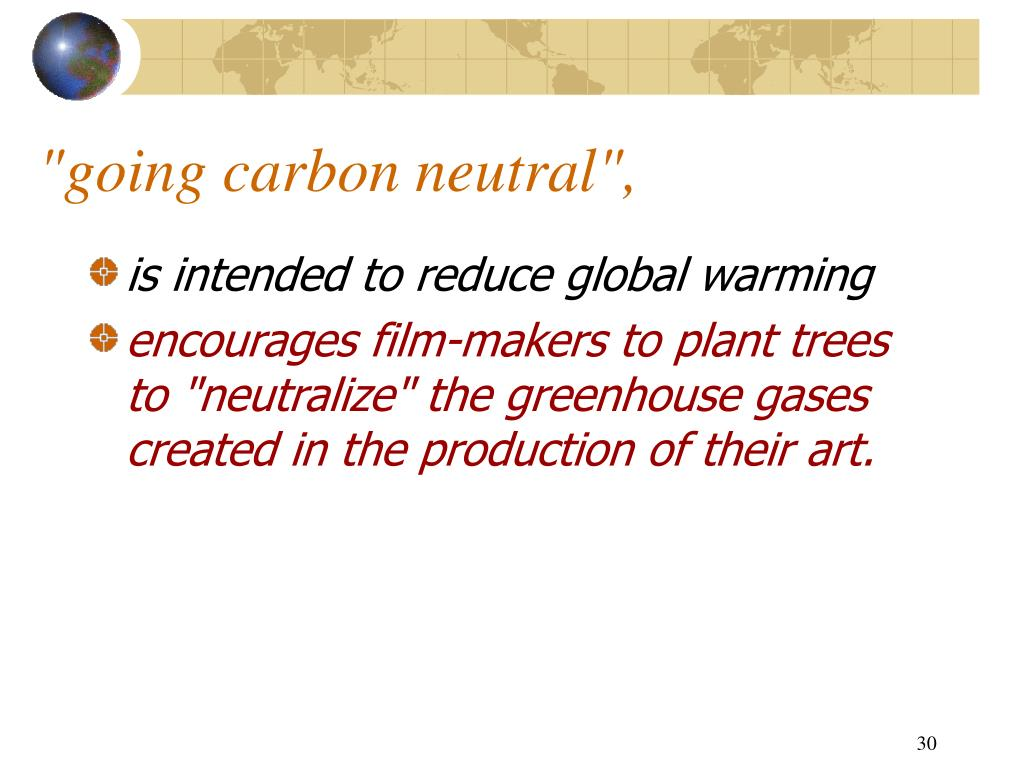 """going carbon neutral"","