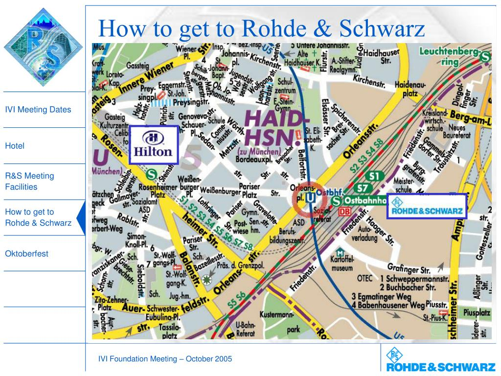 How to get to Rohde & Schwarz