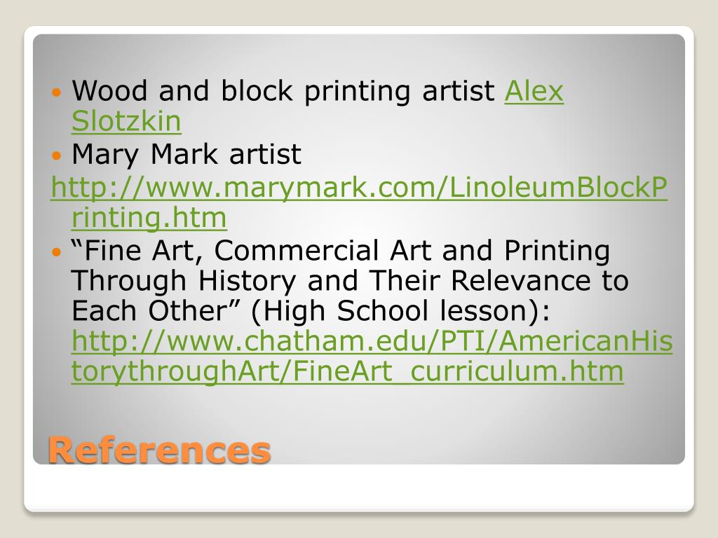 Wood and block printing artist