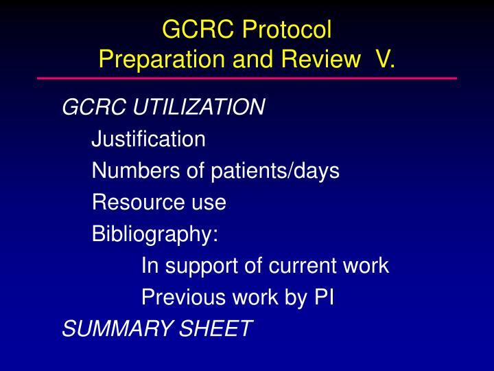 GCRC Protocol
