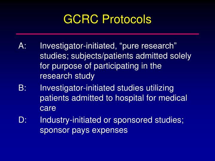 GCRC Protocols