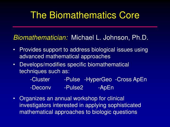 The Biomathematics Core