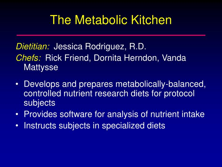The Metabolic Kitchen