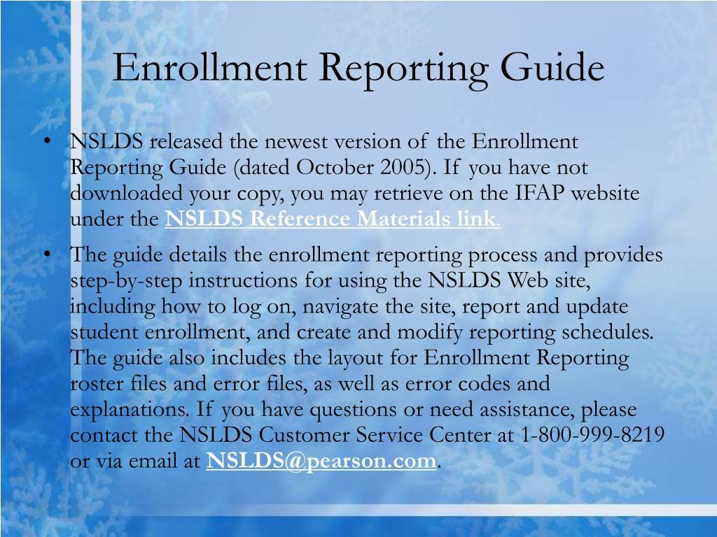 Enrollment Reporting Guide