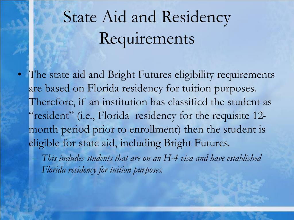 State Aid and Residency Requirements
