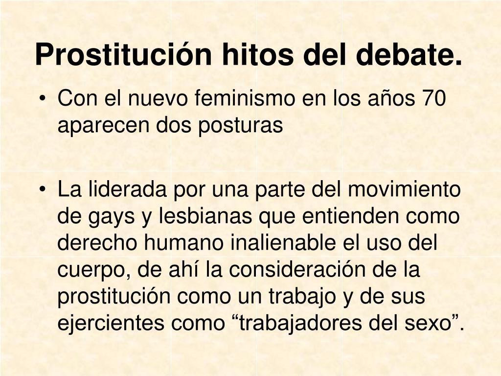 Prostitución hitos del debate.