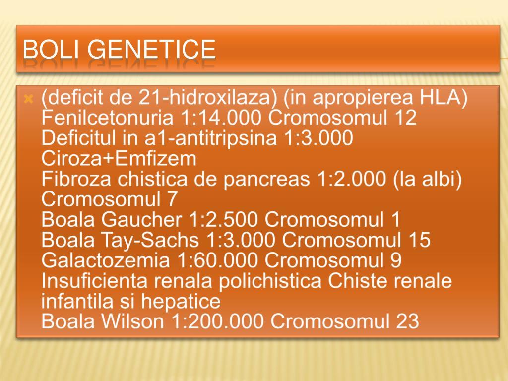(deficit de 21-hidroxilaza) (in apropierea HLA)