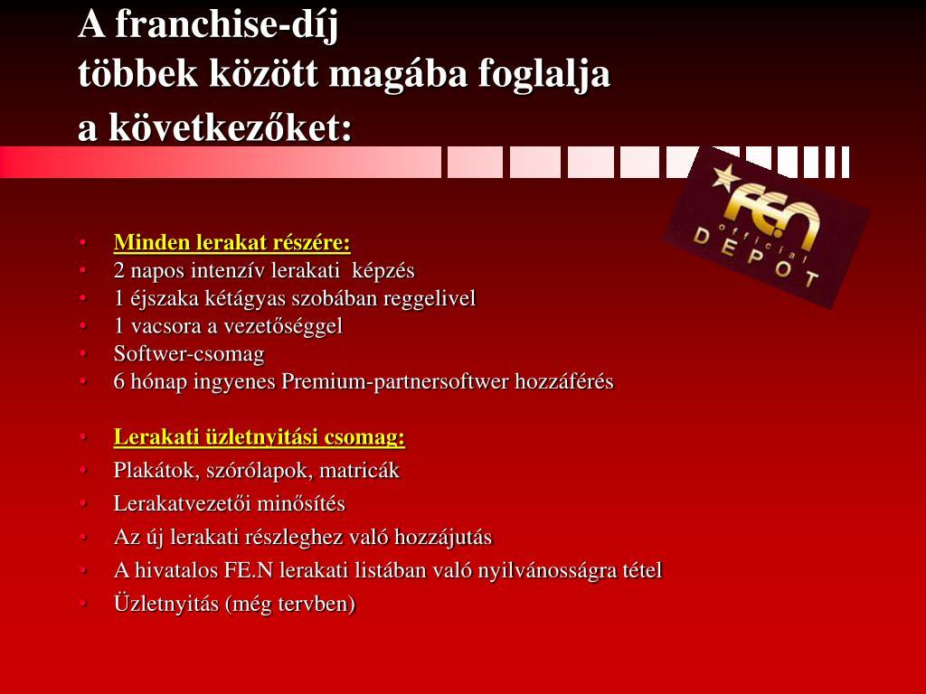 A franchise-díj