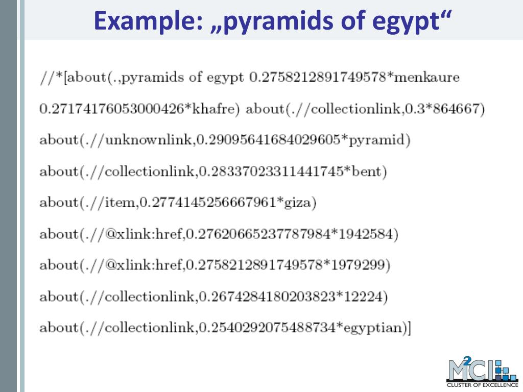 "Example: ""pyramids of egypt"""
