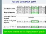 results with inex 2007
