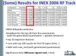 some results for inex 2006 rf track