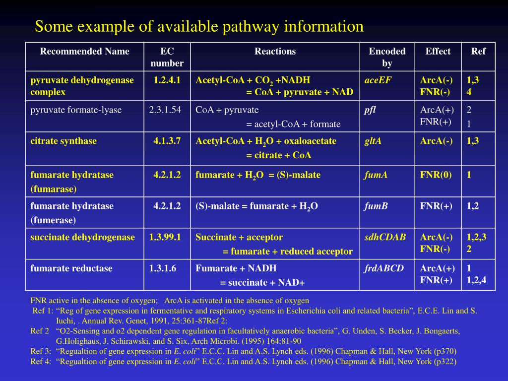 Some example of available pathway information