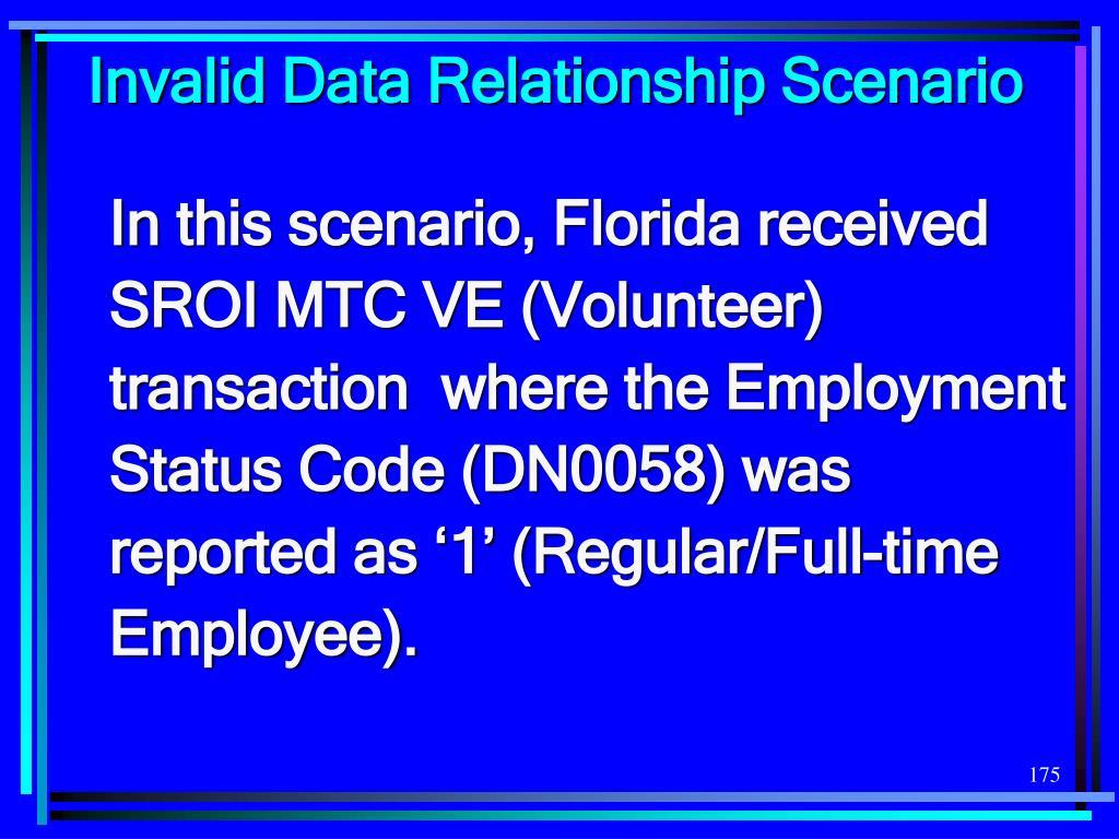 Invalid Data Relationship Scenario