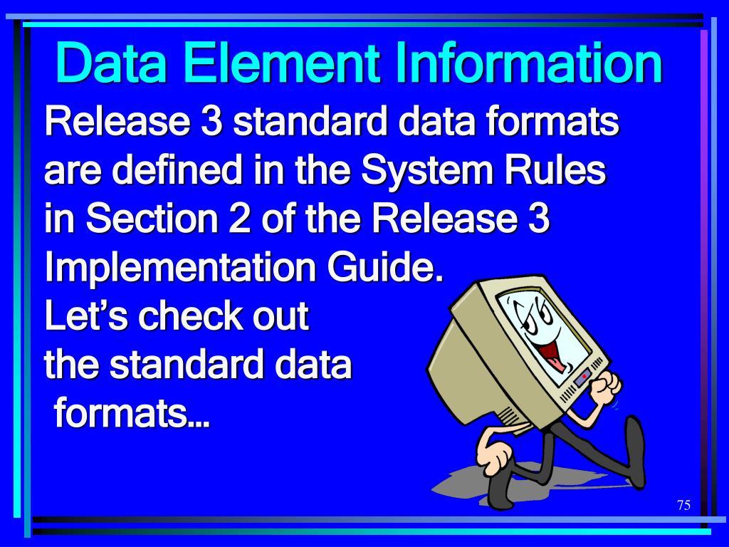 Data Element Information