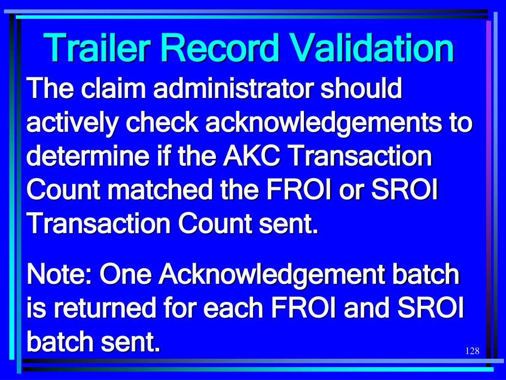 Trailer Record Validation