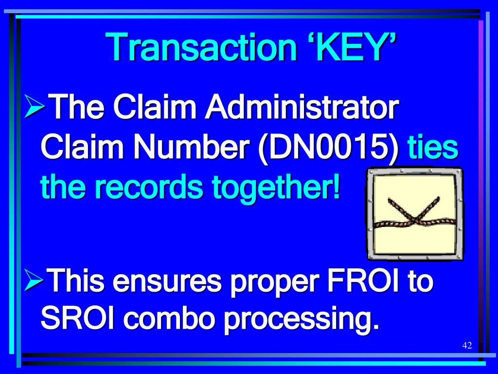Transaction 'KEY'