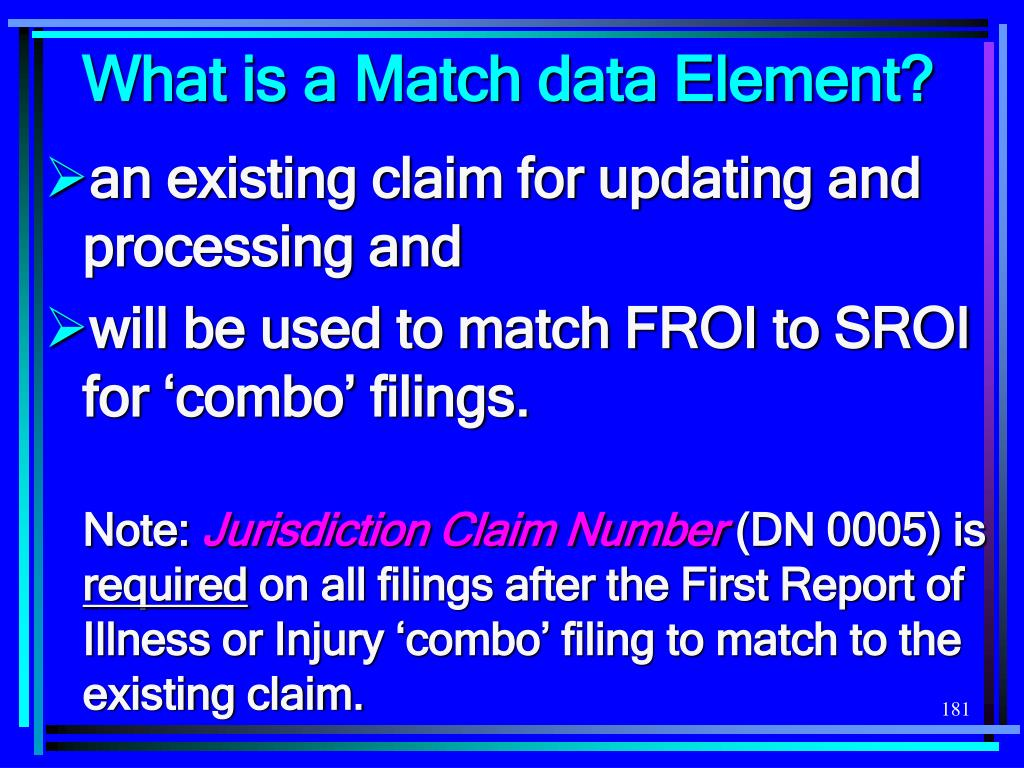 What is a Match data Element?