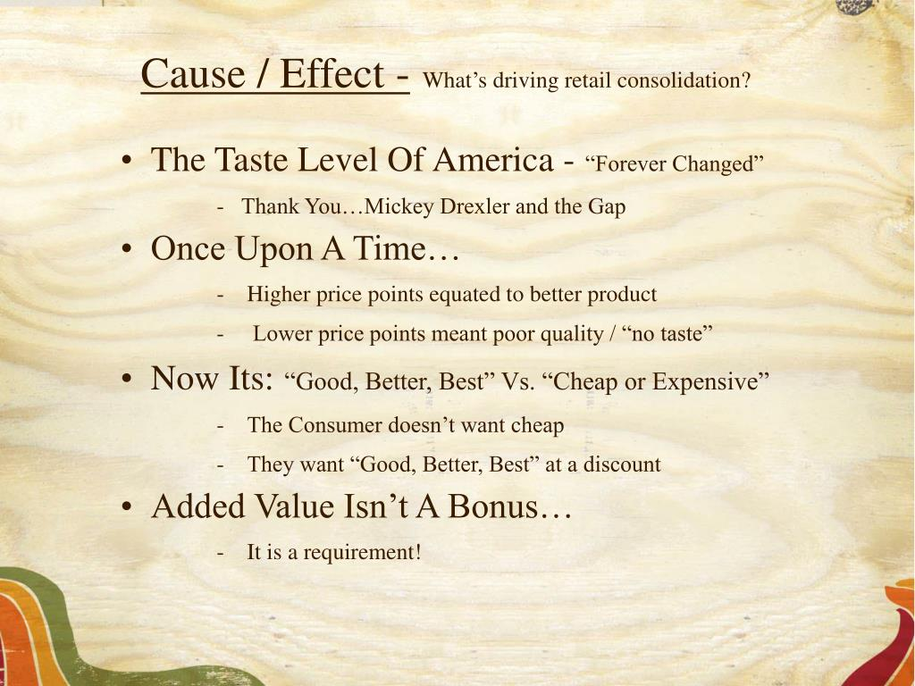 Cause / Effect -