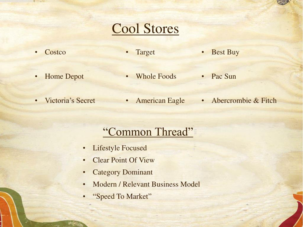 Cool Stores