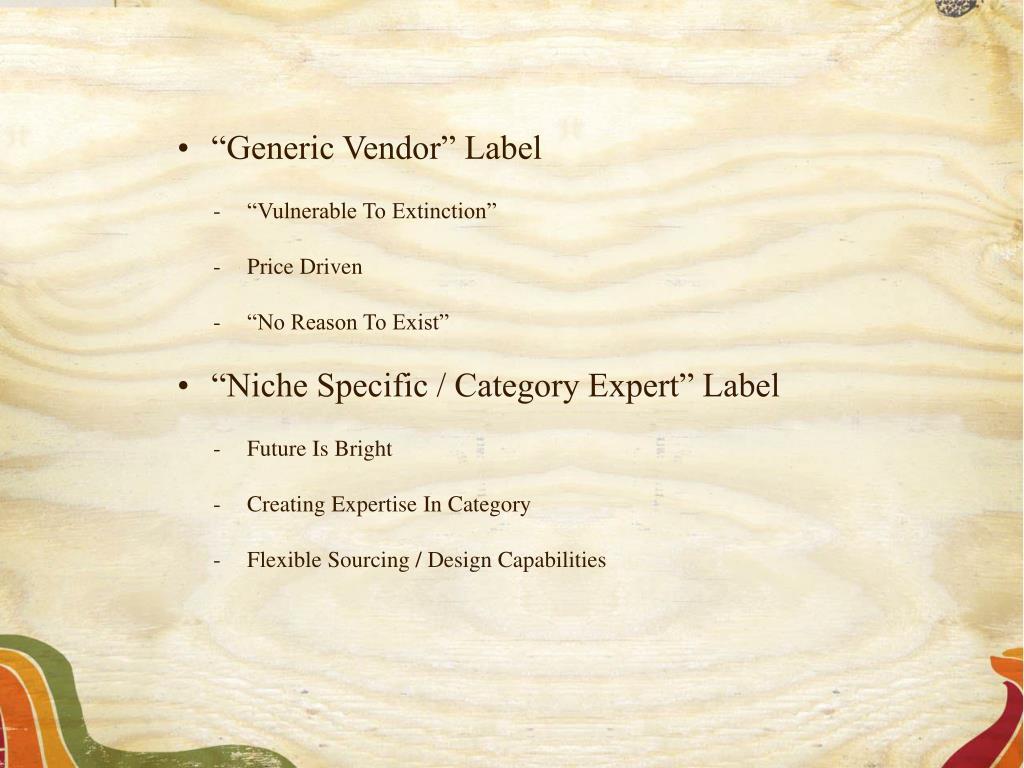 """""""Generic Vendor"""" Label"""