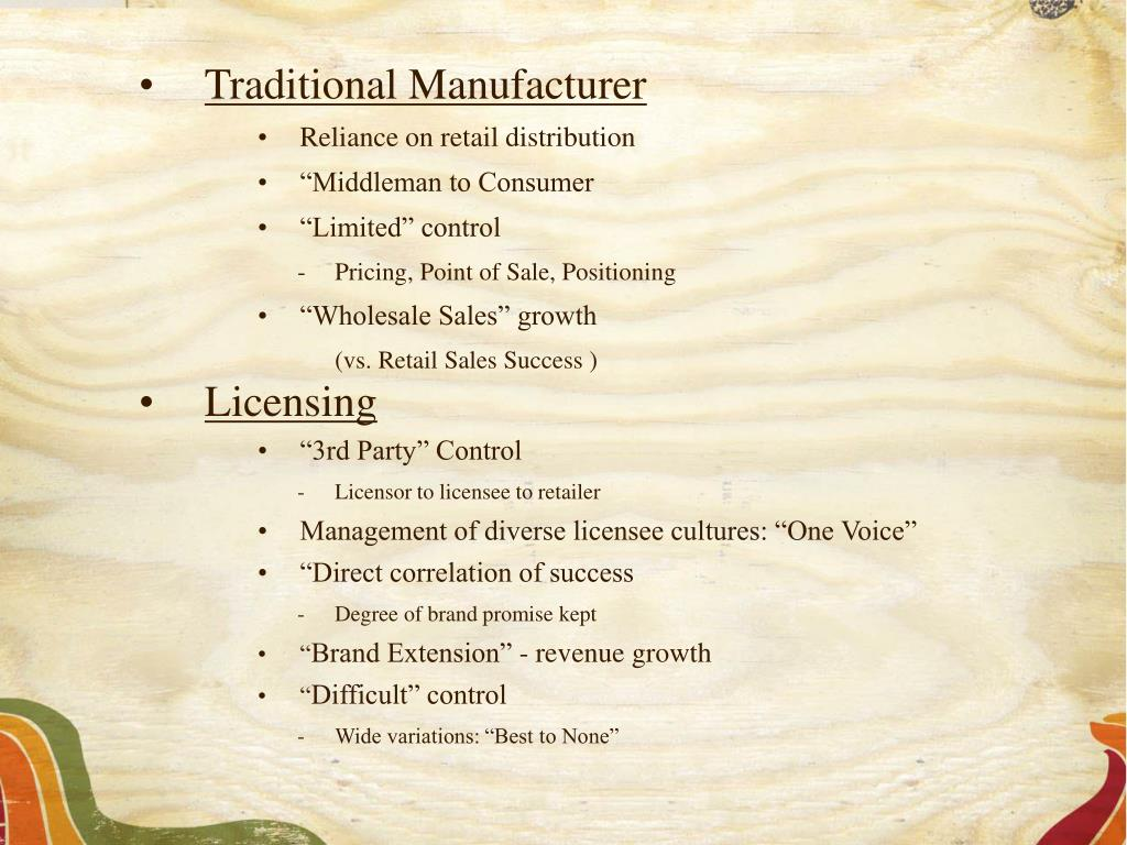 Traditional Manufacturer