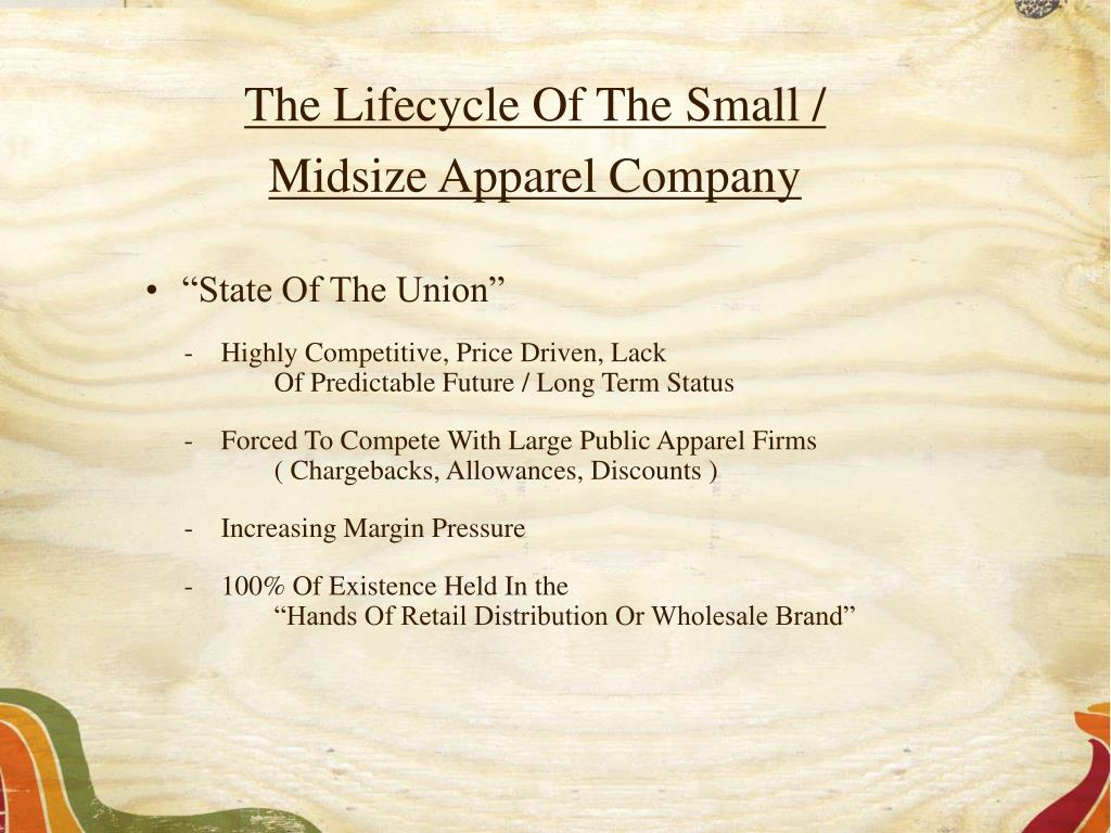 The Lifecycle Of The Small /
