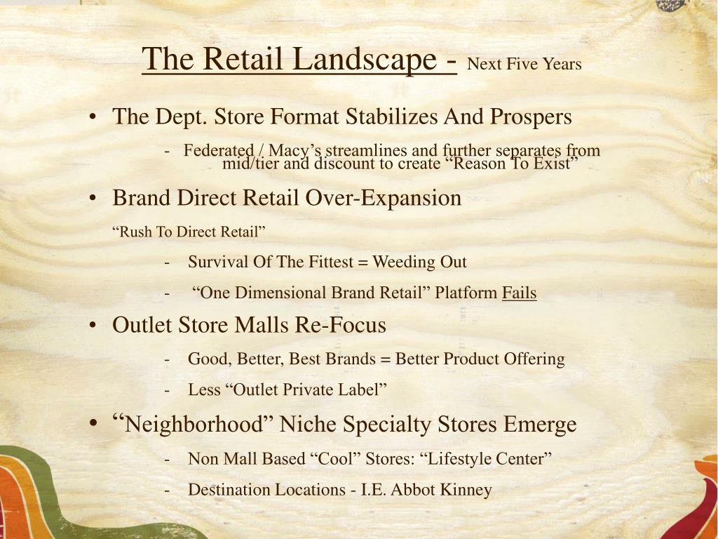 The Retail Landscape -